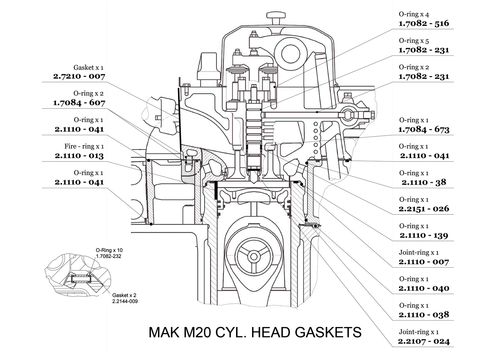 Cylinder Head MAK M20