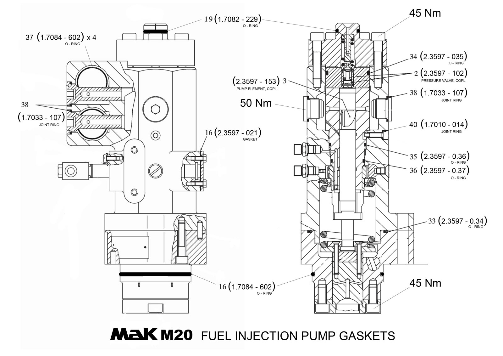 Fuel Injection Pump (ТНВД) MAK M20